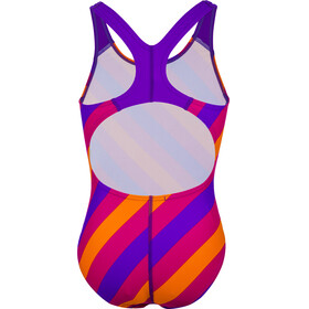 speedo Allover Splashback Swimsuit Girls, purple/pink